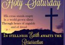 Lent 2020 Saturday 11 April